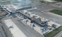 Avinor has decided to expand the area after the passport control at Oslo Airport (Illustration: Nordic)