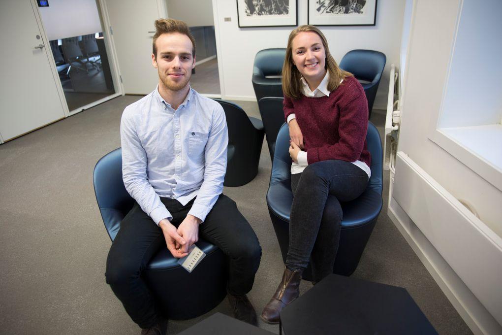 Øyvind Aabye og Andrea Holvik Thorson fra Wiral Cable Cam er blant studentene som nå får millionstøtte for å starte egen bedrift.