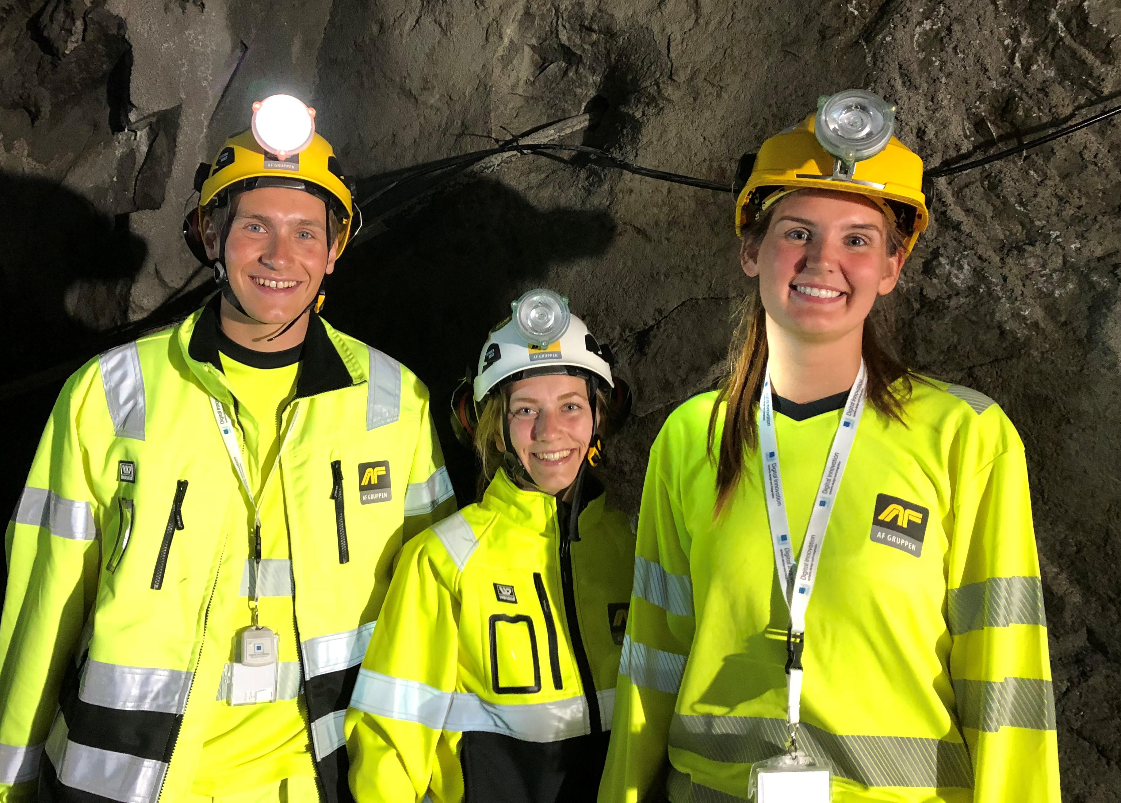Ingeniørstudentene Haavard, Ann-Mari og Martine hadde sommerjobb på Follobanen D&R. – Relevant og lærerikt, oppsummerte de sommeren på jobb for AF.