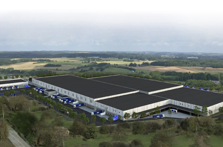 Illustration: DSV, new logistics centre in Rosersberg, north of Stockholm