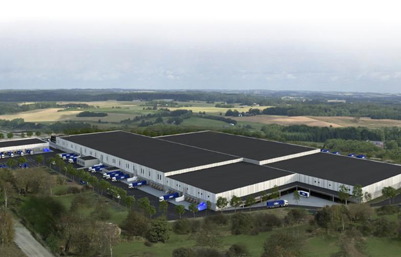 Illustration: DSV, new logistics centre in Rosersberg, north of Stockholm