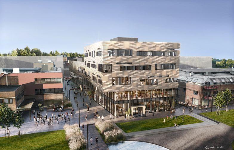 Kulturkvartalet skal bli Vestbys nye storstue. Bygget skal være et estetisk og arkitektonisk signalbygg. Ill. Oxivisuals/Vestby kommune.