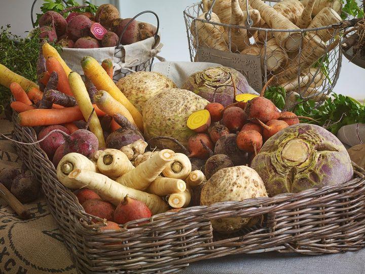 Grønnsaker inneholder mye naturlig kostfiber.