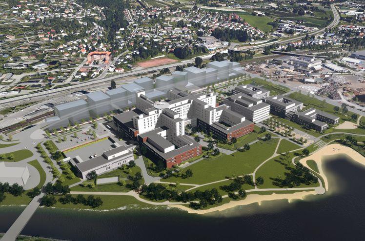 Nytt sykehus Drammen. Ill. Link Arkitektur
