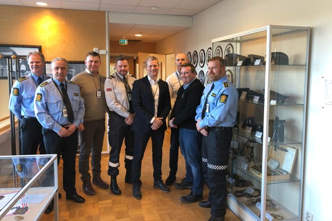 Samarbeid: Øst politidistrikt har nå signert samarbeidsavtale med Nokas og fire andre sikkerhetsselskap Foto: Nokas