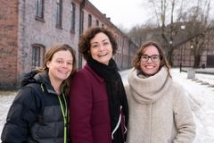 De tre finalistene i Female Entrepreneur 2017, f.v. Siv Hilde Houmb i Secure-NOK AS, Marianne Haugland Hindsgaul i Bubbly Group AS, og Nuria Espallargas i Seram Coatings AS.
