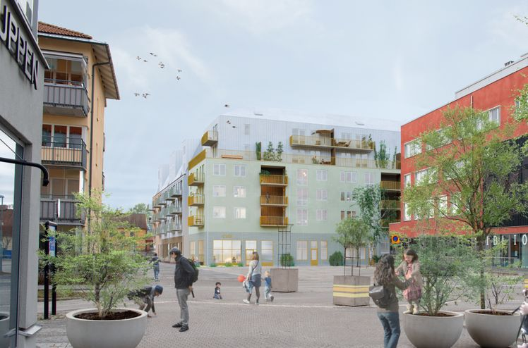 HMB Construction, subsidiary of AF Gruppen, is building a new central residential district in Knivsta, south of Uppsala on behalf of Genoa and Redito.