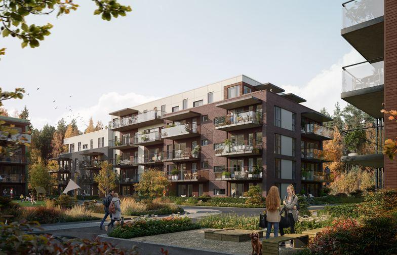 "AF Gruppen has signed a contract with Brekkeveien 19 Utvikling to build the ""Brekketunet"" housing project in Ås in Viken county. Ill. OBOS Nye Hjem/Løvenskiold Eiendom."
