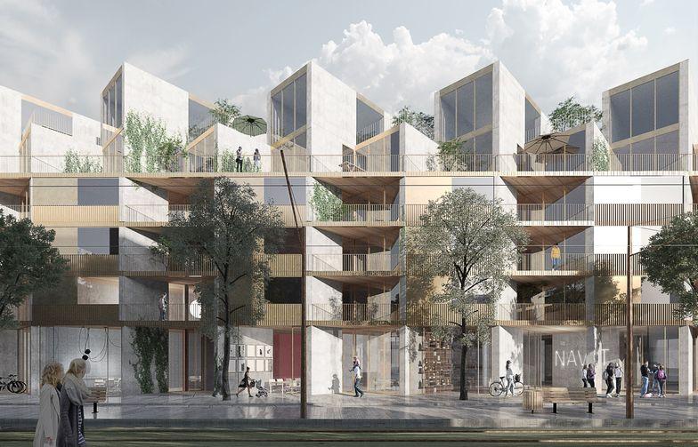 AF skal bygge boliger på vegne av OBOS Kärnhem i den nye bydelen Brunnshög, nær de verdensledende forskningsmiljøene i Lund. Ill. OBOSKärnhem