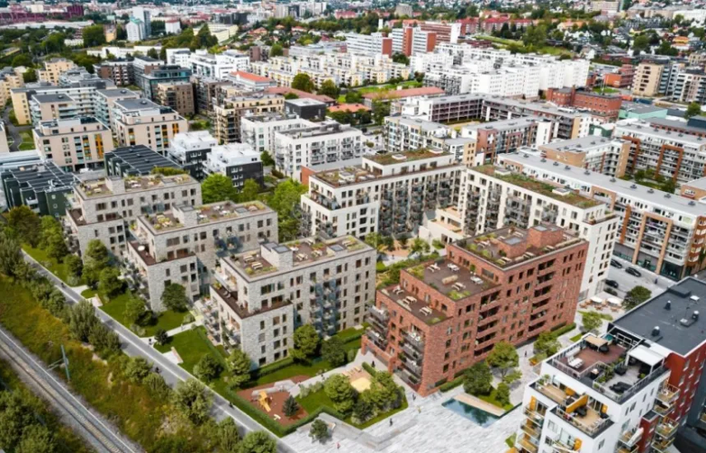 """he project has been named """"Gregers Kvartal"""" and is located between the new Løren metro station and the """"Brødfabrikken"""" residential project."""