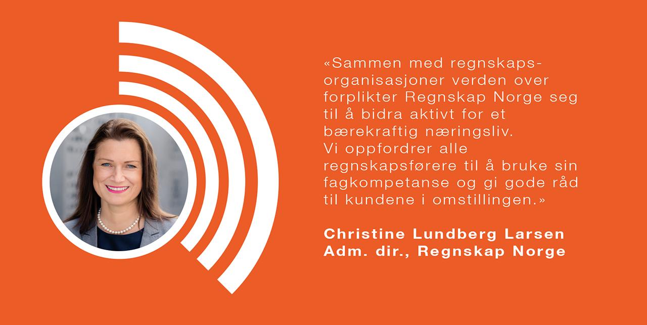 Administrerende direktør i Regnskap Norge, Christine Lundberg Larsen