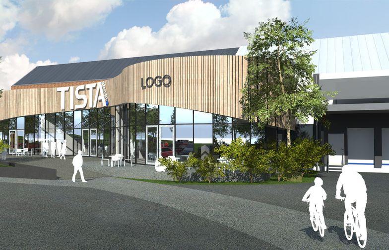 Utvidelse av Tisla kjøpesenter i Halden. Ill. SG Arkitekter