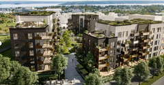 AF Gruppen has signed a contract with Storøykilen Utvikling AS, a wholly owned subsidiary of OBOS Fornebu AS, to build the residential project Storøykilen stage 1 at Fornebu in Bærum.  Ill. Arcasa Arkitekter