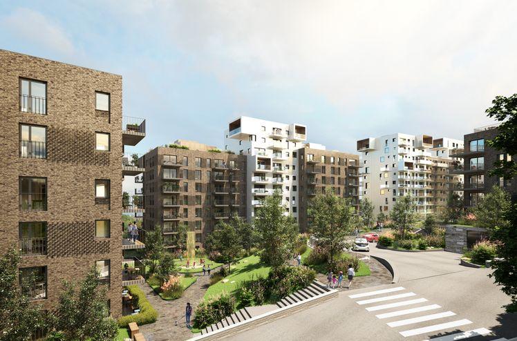 """AF Gruppen har inngått avtale med OBOS Nye Hjem om bygging av tredje byggetrinn på boligprosjektet """"Røakollen"""" ved Røa i Oslo."""