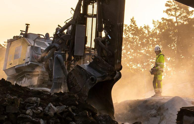 Bilde: Borrigg og graver ved E39 Kristiansand vest-Mandal øst   Foto: Heine Robstad / AF Gruppen