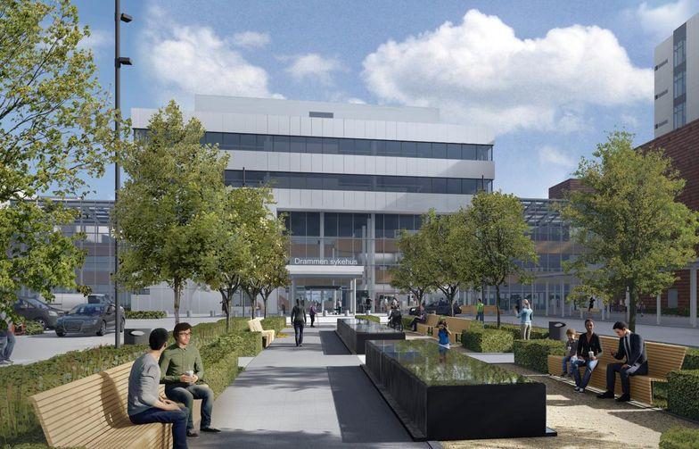 Helse Sør-Øst RHF skal etablere nytt sykehus på Brakerøya i Drammen. Sykehuset skal bygges i perioden fram til 2024, med testing og fortløpende innflytting i 2024-2025. AF Gruppen ble innstilt på to entrepriser 23. november. Avtalene, med en samlet verdi på MNOK 467 eksl mva, er nå signert. Ill. Link Arkitektur