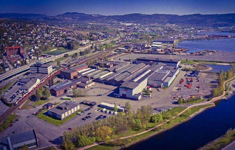 Her på Brakerøya skal det nye sykehuset ligge. Foto: Drammen kommune.