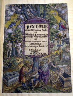 Flotte farger i den aller første Luther-bibelen fra 1533