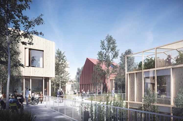 Furuset Hageby klar for bygging. Ill. 3RW arkitekter og NORDArchitects