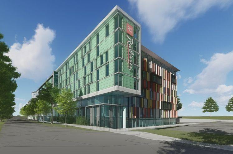 AF utføre utvidelse av Gardermoen Park Inn hotellet som de opprinnelig førte opp i 2009-2010Ill. Niels Torp