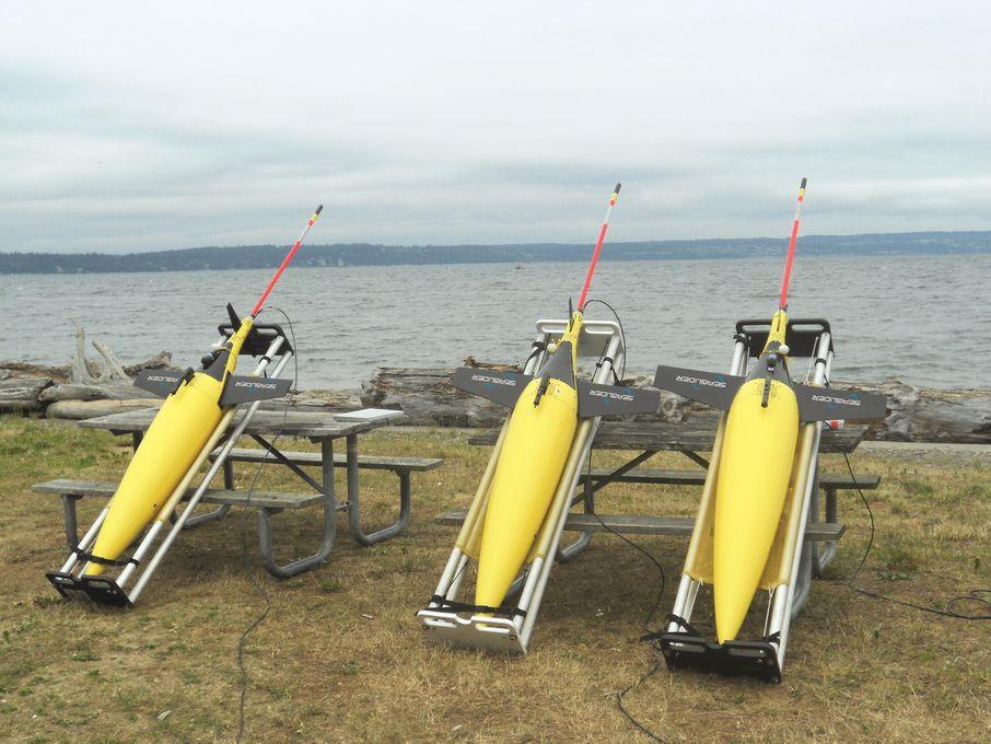 SEAGLIDER, KONGSBERG MARITIME: Et av prosjektene som er bevilget fra DEMO 2000 er Seaglider som skal brukes i kartlegging av de store havområdene i Barentshavet.  FOTO: Sea Glider, Kongsberg Oil & Gas