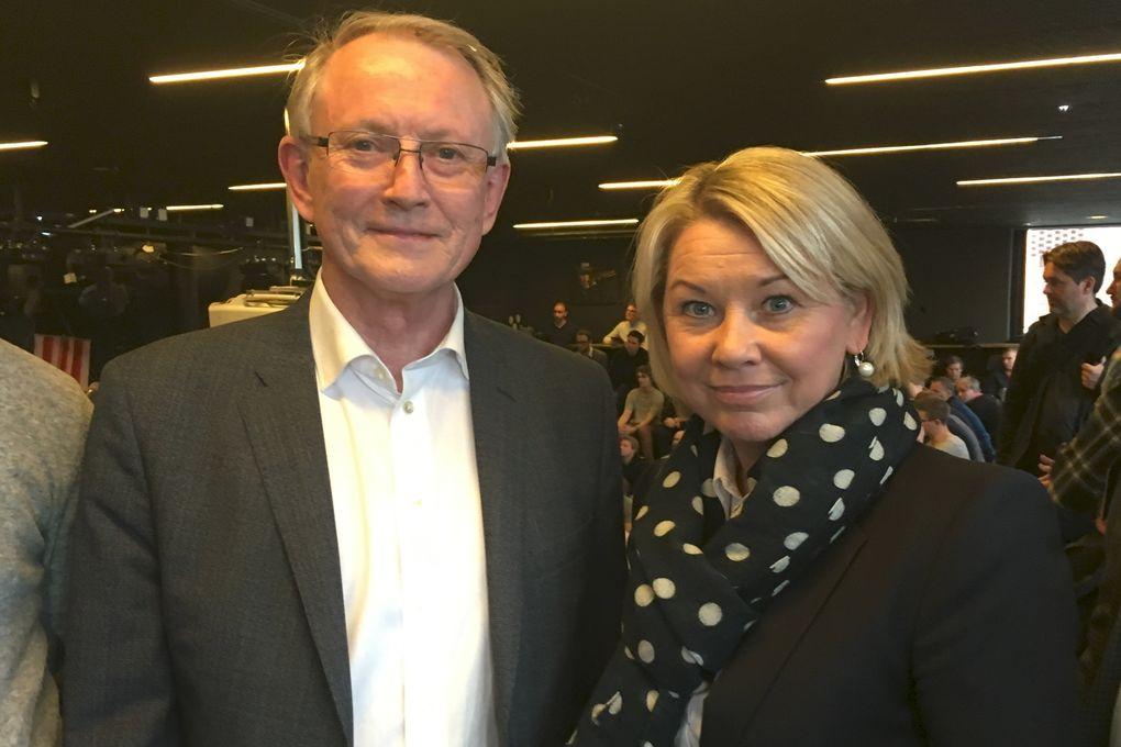 Arvid Hallén og Monica Mæland