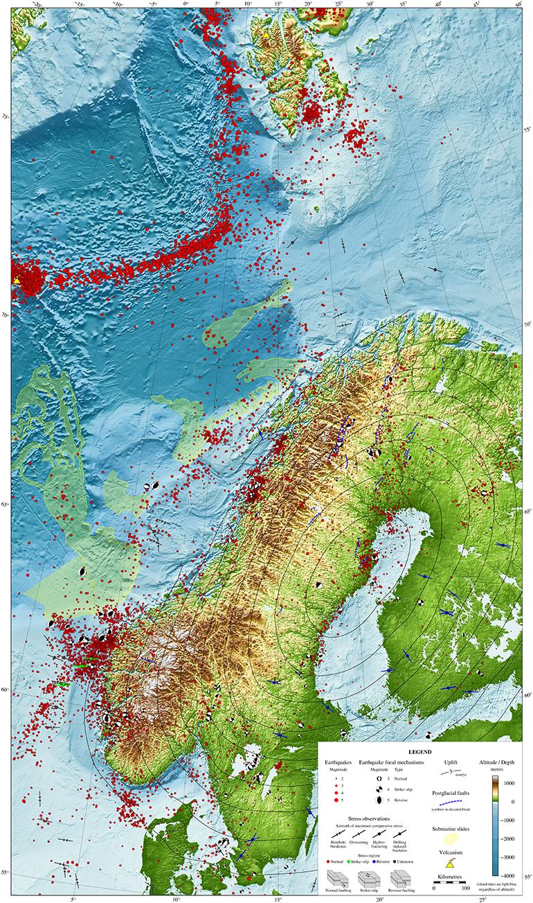 Se Interaktivt Kart Over Jordskjelvene I Norden De Siste 30 Arene