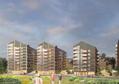 HMB Construction will build four high-rise buildings s in the first of two phases in Tallbohov Elctric Village for Fastighets AB Tornet. Photo: Strategisk Arkitektur