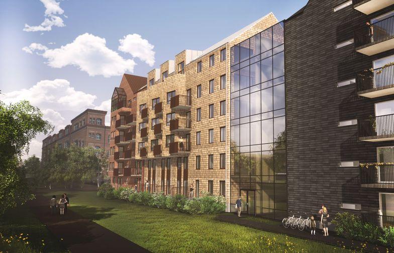 The Stadsgården quarter will surround a pleasant, partly glazed courtyard. Image: Fredblad arkitekter.