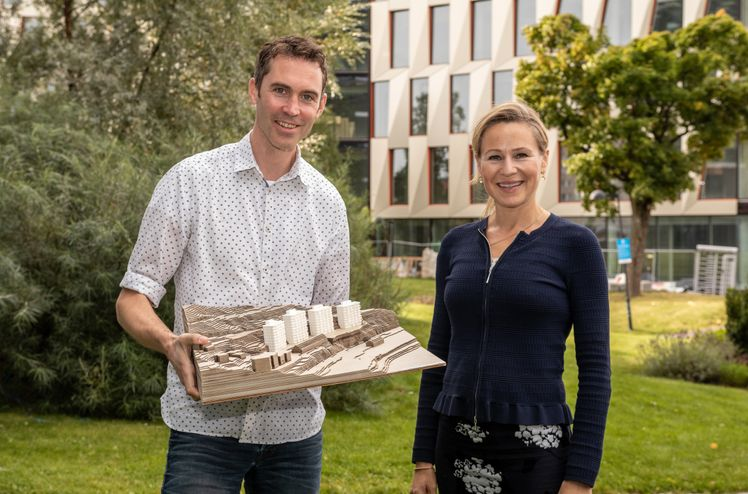 Det er satt høye miljøambisjoner for Fyrstikkbakken 14, som er det første kommersielle boligprosjektet i FutureBuilt-programmet.