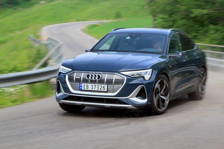 Neuwagenverkauf: Audi e-tron lag laut Angaben des OFV im Juli an der Spitze des Absatzes (Foto: Norwegian Electric Car Association).