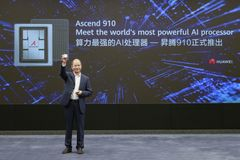 Eric Xu, Huawei's Rotating Chairman, announcing the release of the Ascend 910 AI processor and MindSpore AI computing framework on August 23, 2019