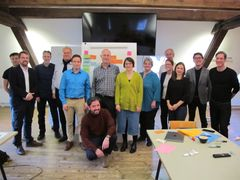 "The ""Quality End of Life"" research group at the kick-off event on February 5, 2020 in Zurich. Photo: Pro Aidants"