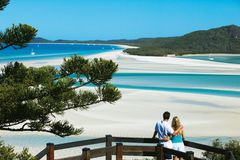 Whitehaven Beach i Whitsunday Islands.