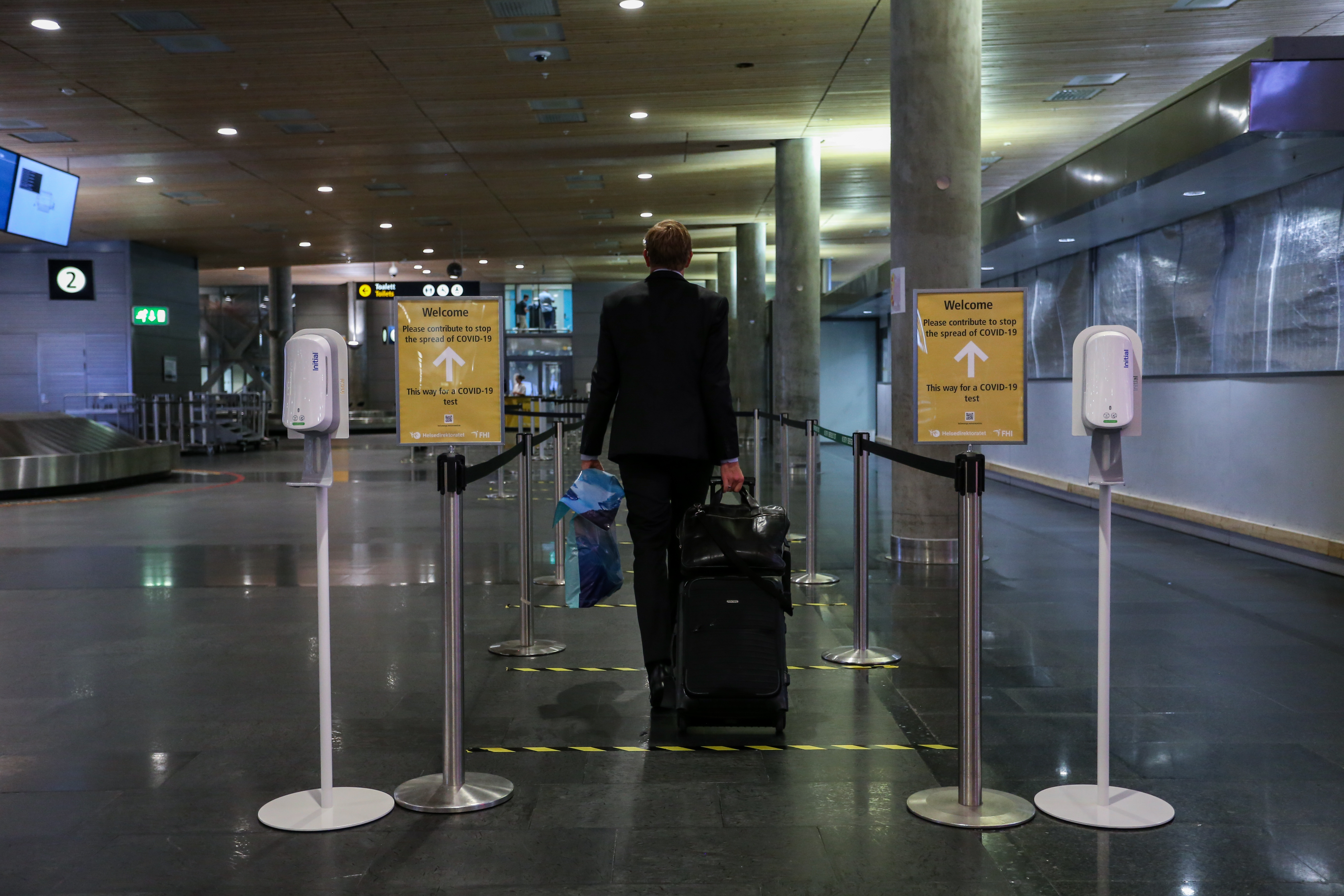 Covid 19 Testing Centre Established In Baggage Hall At Avinor Oslo Airport The Avinor Group