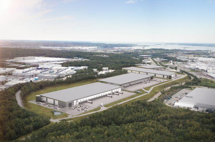 Sörred Logistikpark kommer til å bestå av fire logistikkeiendommer med Sveriges beste logistikkbeliggenhet nær Göteborg havn, som er Skandinavias største.