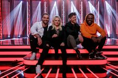 The Voice-mentorene. Foto: Robert Holand, TV 2.