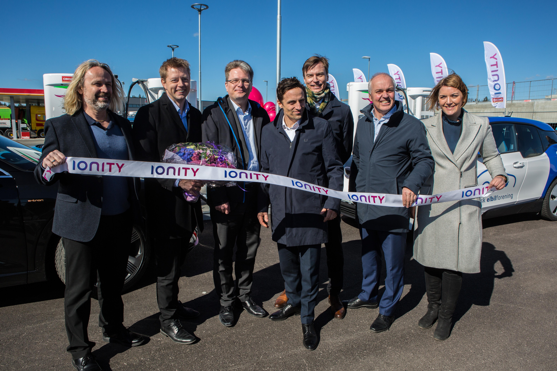 Circle K og IONITY åpnet Norges første langdistansekorridor