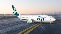 Flyr chose Boeing 737-800. Pictured here with new airline livery. Illustration: Unfold