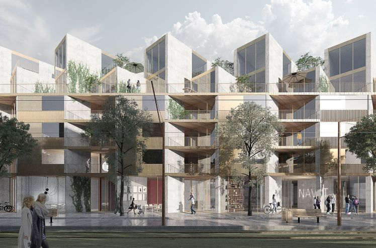 AF Bygg Syd will build homes on behalf of OBOS Kärnhem in the new district of Brunnshög, close to Lund's world-leading research environments. Ill. OBOS.