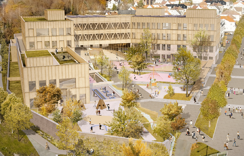 Os school and sports arena. Illustration: White Architects AB.