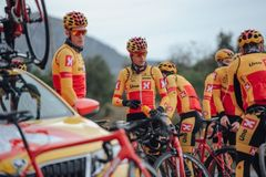 Uno-X Norwegian Development Team during a training camp in Spain. Photo: Jan Brychta.