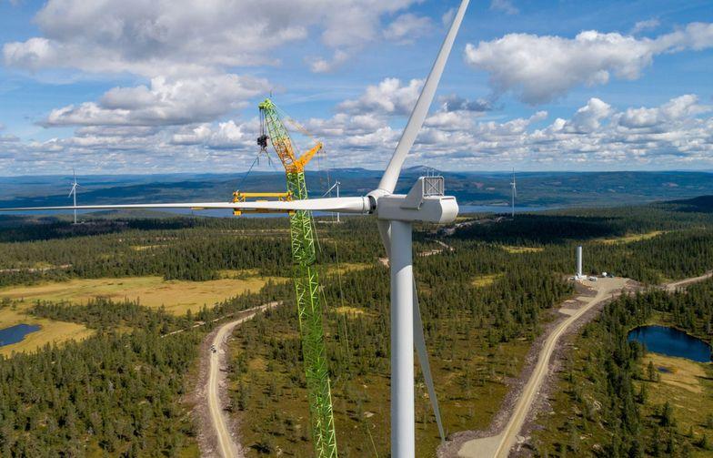Kanonaden Entreprenad skal utføre anleggsarbeidet for en ny vindpark i Uppvidinge kommune sør i Sverige. Foto: Joakim Lagercrantz, OX2
