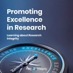 "The cover of the ""Promoting Excellence in Research"" booklet, which shows researchers and research organisations ways to reach excellency. Promoting Excellence; Research; Research Integrity; Research Ethics; Training; Teaching and Learning;