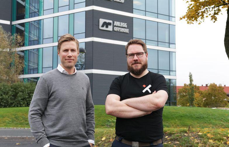 Construct Venture-direktør Jan Fossgård og Vixel-gründer Rune Vandli. Foto: AF Gruppen
