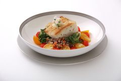 Chilean Seabass on a Bed of Kale and Quinoa Salad
