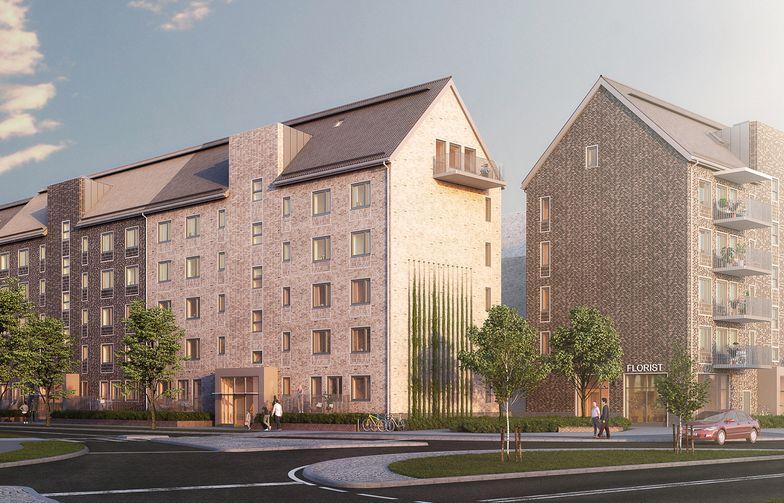 AF Bygg Göteborg skal bygge 143 nye boliger i bydelen Backa i Gøteborg på oppdrag fra Riksbyggen. Ill.: Wec360°